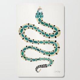 Emerald & Gold Serpent Cutting Board