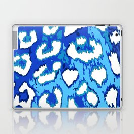 Blue and White Leopard Spots Laptop & iPad Skin