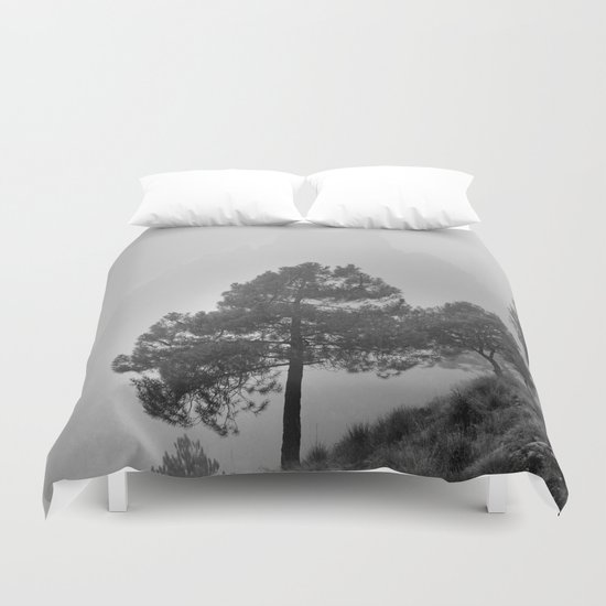 """Misty Mountain"". Into the fog Duvet Cover"