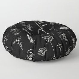 Patagonian wildflowers Floor Pillow