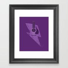 Electric - Acoustic Lightning Framed Art Print