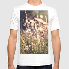 Flowers and light White Mens Fitted Tee MEDIUM