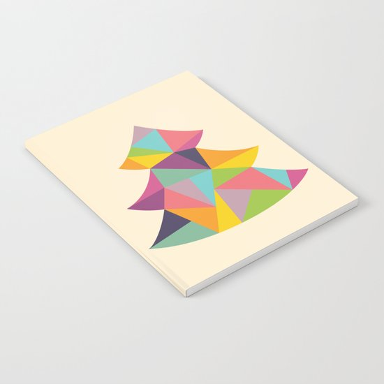 Colourful Christmas Tree Notebook