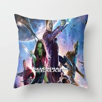 guardians of the galaxy Throw Pillows featuring guardians of the galaxy by store2u