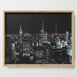 New York at Night - Photography Serving Tray