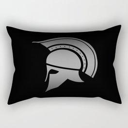 Ancient Greek Spartan Helmet Rectangular Pillow