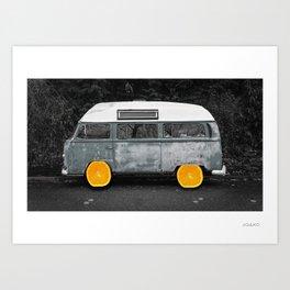 Oranges on a Roll Art Print