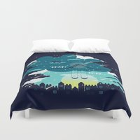 tfios Duvet Covers featuring Stars and Constellations by Risa Rodil