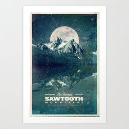 Sawtooths: Stanley Lake Art Print