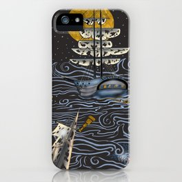 Ghost Ships on the Sea iPhone Case