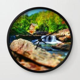 Glade Creek Grist Mill Wall Clock