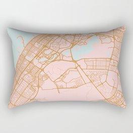 Dubai map, United Arab Emirates Rectangular Pillow