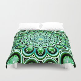 Emerald Iterations Duvet Cover