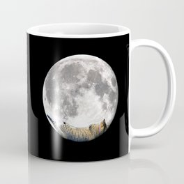 Sleeping cat with the Moon Coffee Mug