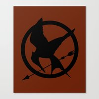 mockingjay Canvas Prints featuring Mockingjay by Jessica Wray