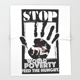 STOP POVERTY Throw Blanket