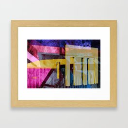 Keflavik - during a visit from the Yeti Framed Art Print