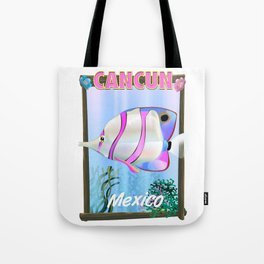 cancun mexico travel poster Tote Bag