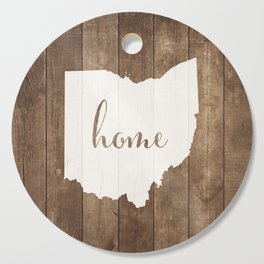 Ohio is Home - White on Wood Cutting Board