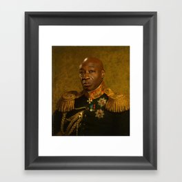 Michael Clarke Duncan - replaceface Framed Art Print