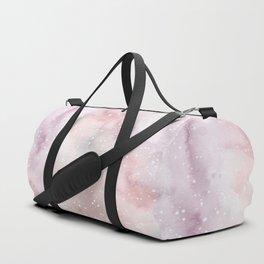 Mauve pink lilac white watercolor paint splatters Duffle Bag