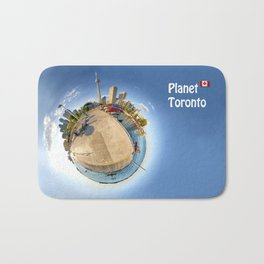 Planet Toronto Wall Paper Bath Mat