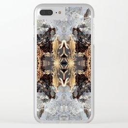 Diamond Ice Frozen Autumn - Debra Cortese photo art Clear iPhone Case