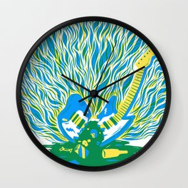 Guitar Explosion Wall Clock