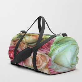 Roses - Pink and Cream Duffle Bag