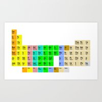 bible Art Prints featuring PERIODIC BIBLE by MR TEE