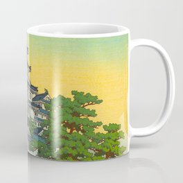 Kawase Hasui Vintage Japanese Woodblock Print Himeji Castle Coffee Mug