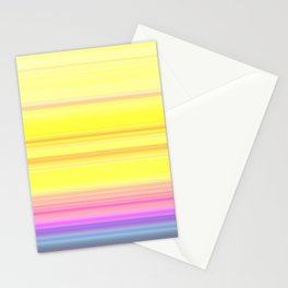 Multi Stripe Gradient Stationery Cards