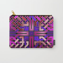 Pink Celtic Knot Square Carry-All Pouch