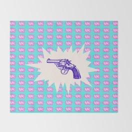 Purple Gun Throw Blanket