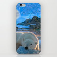 Just Chilling and Dreaming (Polar Bear) iPhone & iPod Skin