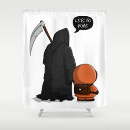 Let's go home Shower Curtain