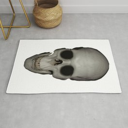 Human Skull Vector Isolated Rug
