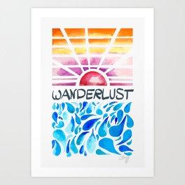 Wanderlust - Sunset Zadar Art Print