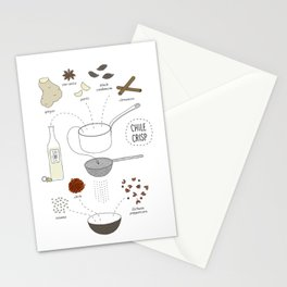 Chili Crisp Stationery Cards