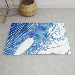 Blue Wave Rug