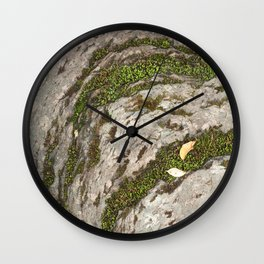 Mossy Stone Curves Wall Clock