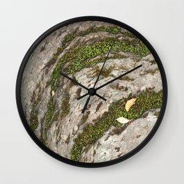 Mossy Stone Curves Wall Clock