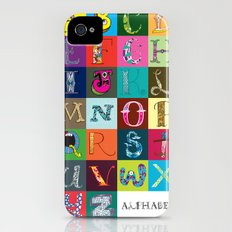 Hand Drawn Alphabet Slim Case iPhone (4, 4s)