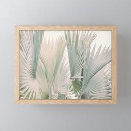 fan palm Framed Mini Art Print