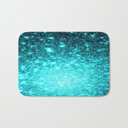 Turquoise Ombre Stars Bath Mat