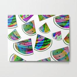 Colorful Watermelon Metal Print