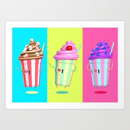 Milkshake Day Art Print