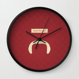 Hogan (Famous mustaches and beards) Wall Clock