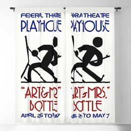 Art and Mrs Bottle retro theatre Blackout Curtain