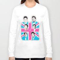 british Long Sleeve T-shirts featuring british men by Olga Panteleyeva